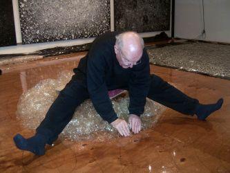 Peeling work from non-porous studio floor