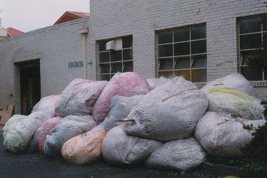 15 tonnes of shredded paper