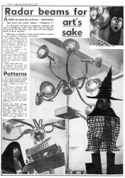 Sculptron (1967) Newspaper article handpainted by artist